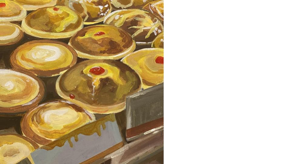 Kayan Tam, Year 13 Wu - Acrylic painting